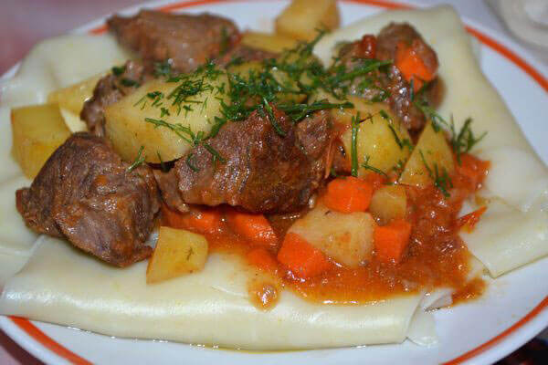Бешбармак из говядины