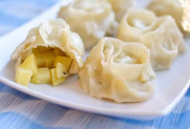 Манты с картошкой