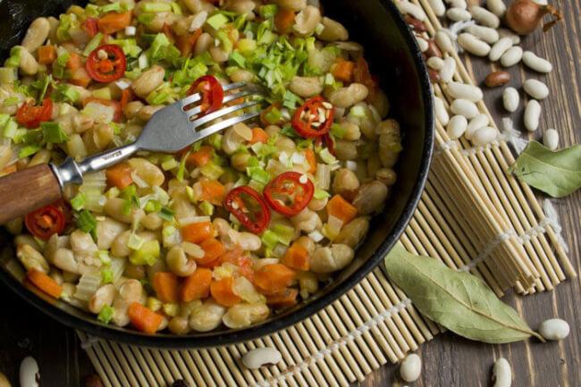 Рагу овощное с фасолью