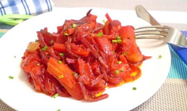Свекольное овощное рагу
