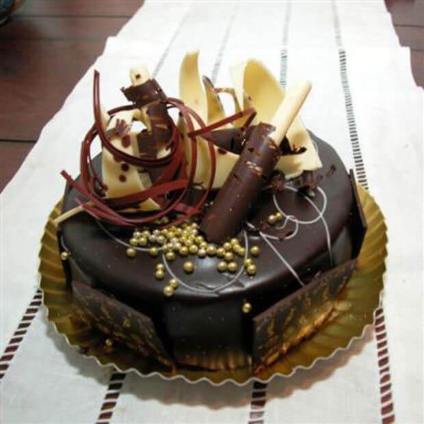 украшения из шоколада на торт своими руками фото