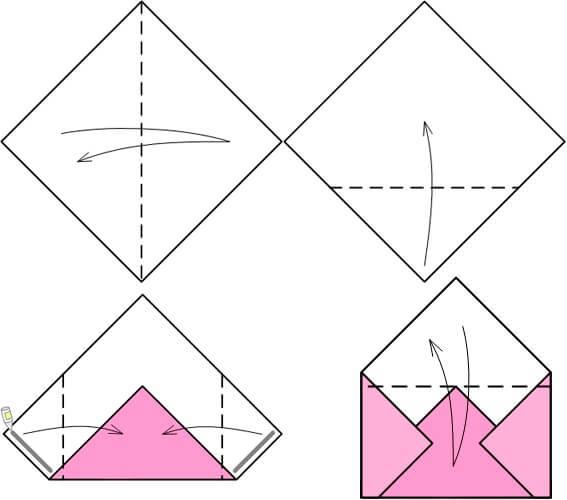 Как сделать конверт из бумаги а4 своими руками поэтапно фото