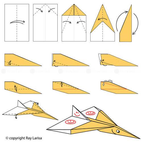 Как сложить долголетающий бумажный самолетик?