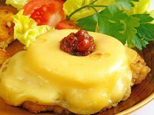 Мясо по французски с ананасом