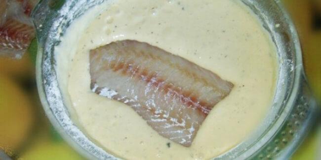 Простой кляр для рыбы