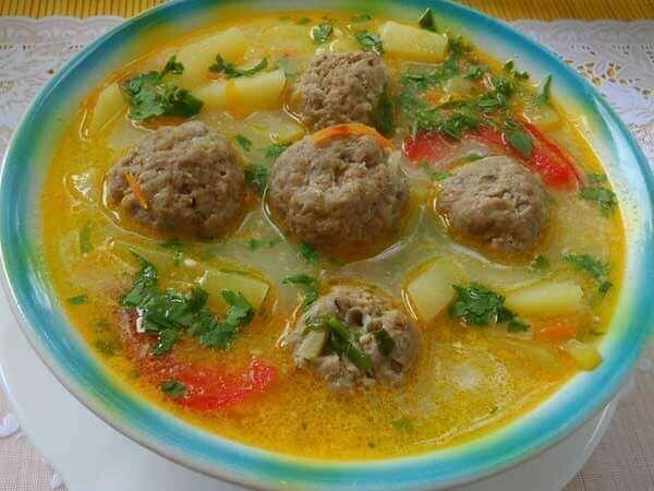 Суп из тефтелей